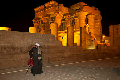 Kom Ombo Temple at night