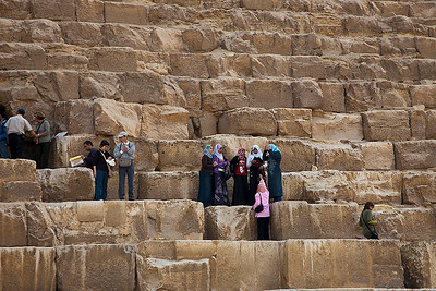 At steps of the Great Pyramid
