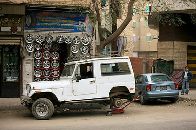 Tire shop in Cairo