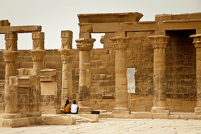 At the Philae's Temple of Isis