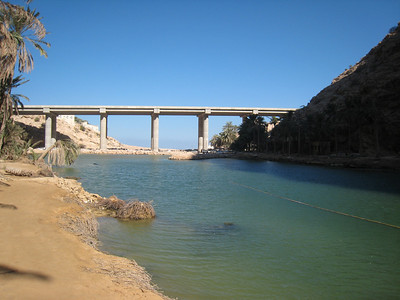 The new bridge over Wadi Tiwi.