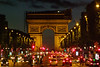 View from Champs-Elysees toward Arc De Triomphe