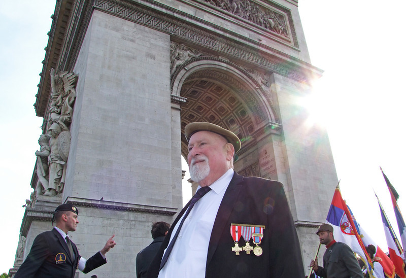 French Veteran at ceremony for French Unknown Soldier