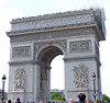 Arc De Triomphe with repairs being made