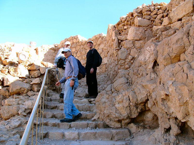 Masada at the top
