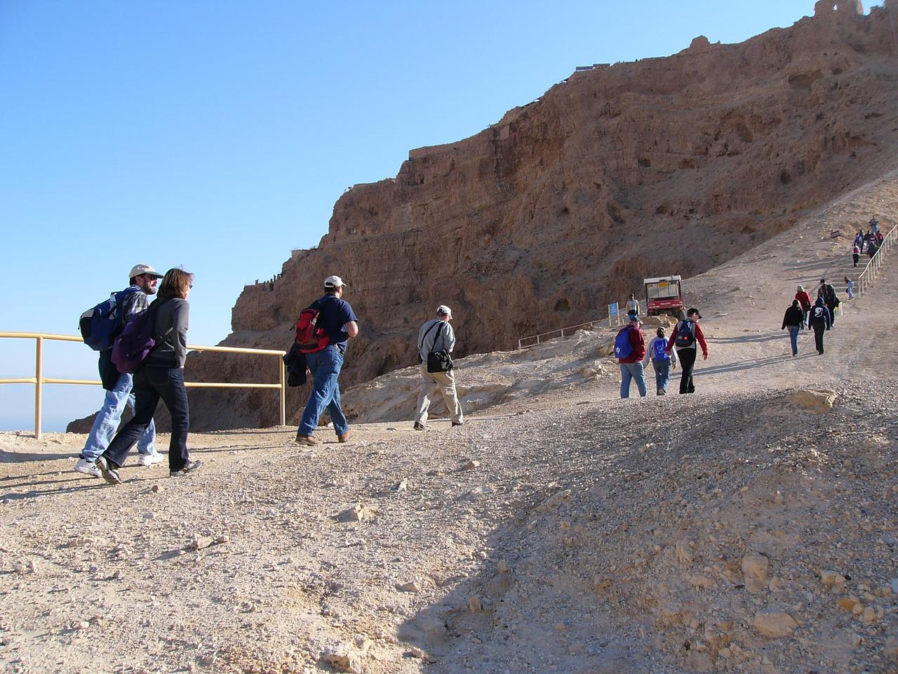 Masada Hikers2