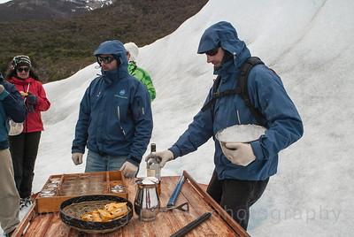 El Calafate, Pierto Moreno Glacier, Argentina Chocolate & brandy after the hike.