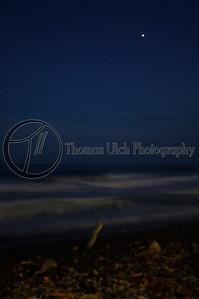 An impressionistic beach at night. El Tunco, El Salvador.
