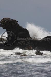 Look at the size of that wave! El Tunco, El Salvador.
