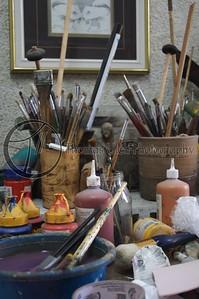The studio of the Maestro. El Aleph.