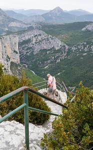 Mike taking pics at Gorge du Verdon
