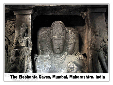 Elephanta Caves are located on an island and just off the coast of Mumbai. The name Elephanta by which the Island is known originated with the Portuguese, after they found a massive elephant structure on the island in the 18th century A.D. This is now displayed in the Jijamata Udyan Gardens in Mumbai. The basalt rock carved Hindu cave temples of Elephanta are dedicated to Lord Shiva and date back to the 5-7th century A.D. These seven caves were originally decorated with paintings of which now only traces remain. The famous idol of the Maheshmurti Shiva has earned the cave international acclaim. the three heads are of Aghora, Tatpurusha, and vandeva with Sadyojata, at the back and Ishana at the top.  Around the Maheshmurti in eight panels are sculptures portraying the relentless energy of Lord Shiva. Today the Elephanta caves are an UNESCO designated World Heritage Site. Hewn out of solid rock, the Elephanta Caves attract many visitors who take an hour long ferry boat ride to reach from Gateway of India and visit this site. Maharashtra Tourism.