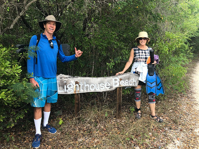 Beginning of our 3-mile hike to the beach