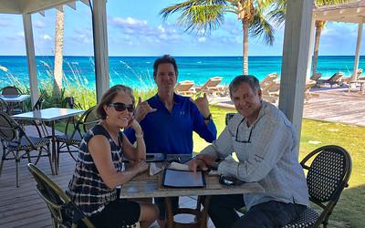 Joye, Tony, and Bob at the The Bougainvillea Inn and Restaurant