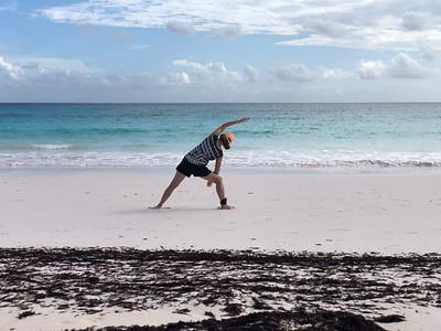 Yoga session on Lighthouse Beach