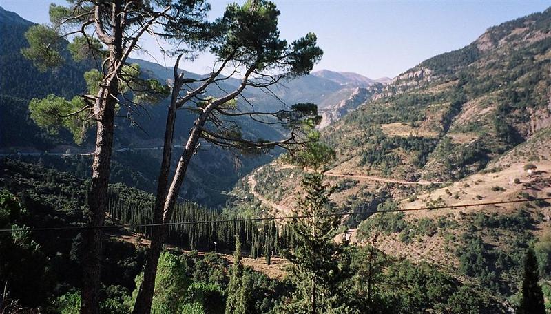 View from Mega Spiliaio monastery