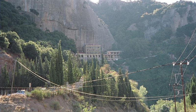 Mega Spiliaio built into hillside.  Believed to be the oldest monastary in Greece.