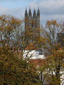 Canterbury Cathedral from old city walls