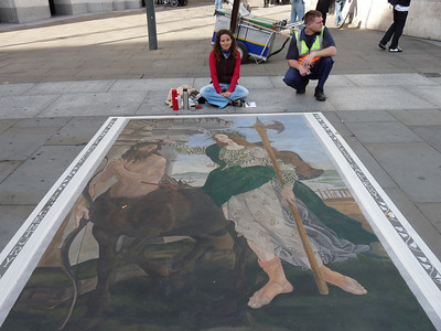 Street artist, National Gallery