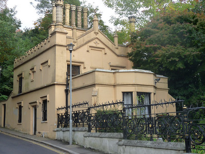 Building near Highgate Cemetery