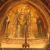 In one of the side chapels was this mosaic.  Many gold tesserae used.