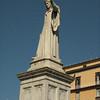 Dante's statue in Piazza Dante.