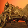 Bronze - probably two slaves sleeping it off.  A very entertaining and interesting piece.