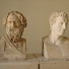 Rows and rows of portrait busts from Greek and Roman sources are housed in the sculpture galleries.