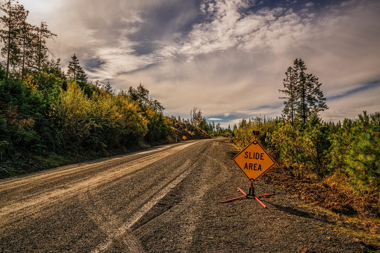 road sign slide area