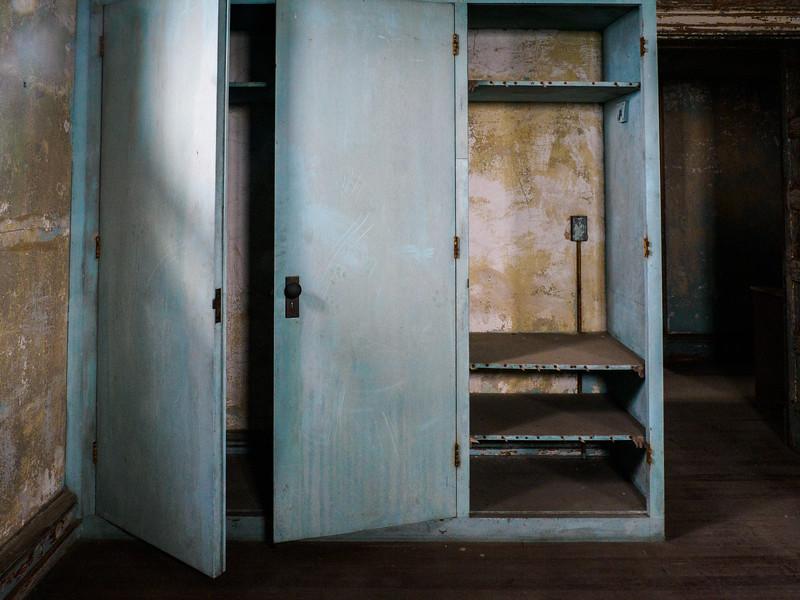Storage in nurses's quarters.