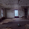 By the time we returned to thiis room later in the day, the storm had intensified and much of the room was wet  from the wind and waves raging just outside the building.