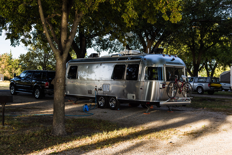 Our Ellis campsite.