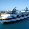 Celebrity Cruise Lines' Mercury enters Nassau port.