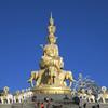 Statue of Puxian (aka Samantabhadra) at Huazang Si on top of Mt. Emei