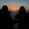 The summit was full of Chinese tourists, all trying to get photos of the sunrise.