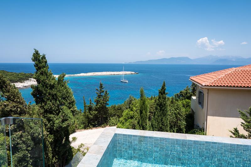 Infinity pool overlooking Emplisi Bay