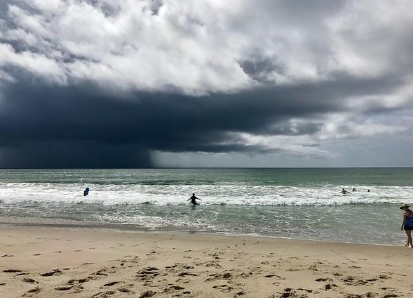 Beautiful rain storm in the distance