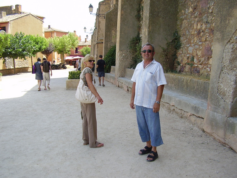 André and Nella in Roussillon.