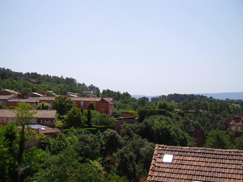 Rooftops in Roussillon in the Lubéron mountain range in the department of Vaucluse.