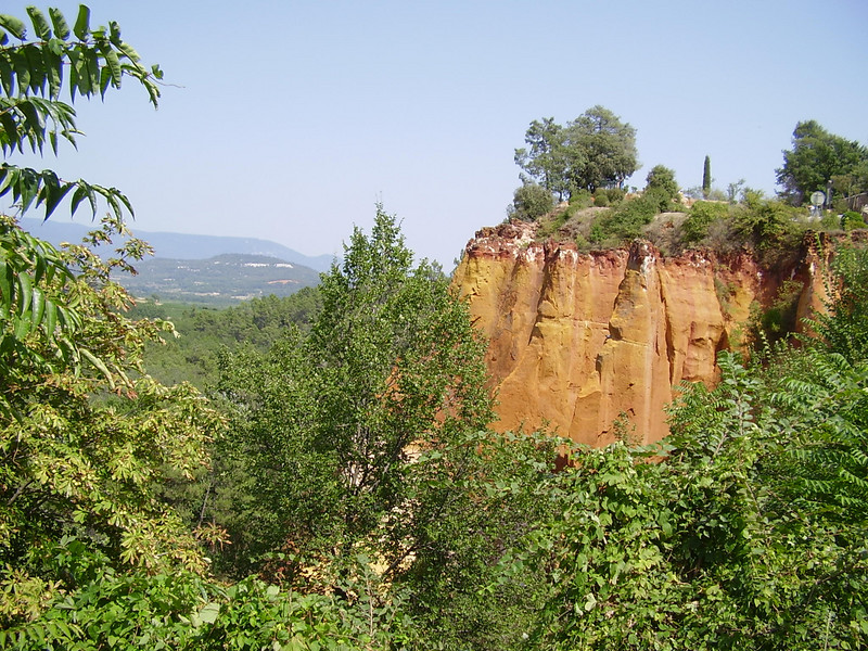 Ochre cliffs in Roussillon.