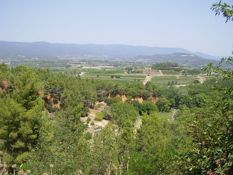 A view from Roussillon. The Romans fought a great battle against what they called the barbarians on this plain.