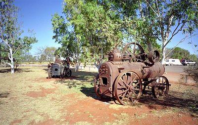 Landbouw stoommachine