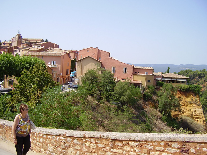 A view of the village of Roussillon.
