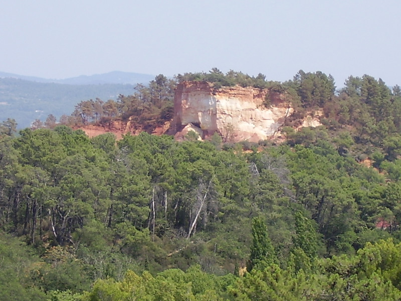 The ochre cliffs of Roussillon.