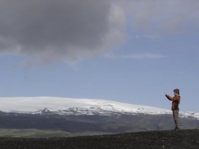 Þórhildur að taka mynd<br /> Mynd frá Sigurjónu Scheving