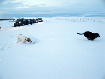 Keldnasvæðið með bíladeild FÍ, janúar 2007