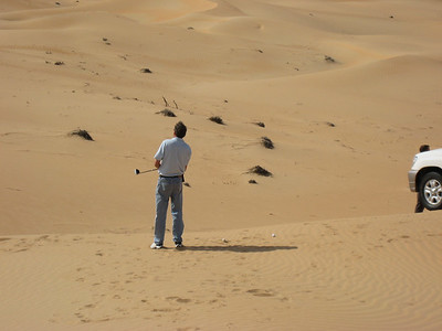 Damn, in the sand trap again!