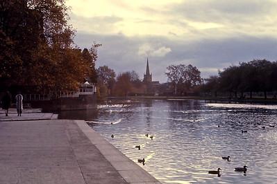 The river Avon, Stratford