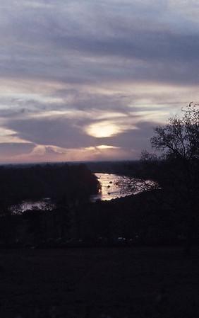 Richmond Hill - Sunset over Thames