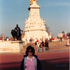 April 1, 1990<br /> London, England<br /> Vickie in front of the monument across the street from Buckingham Palace.